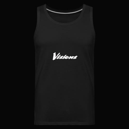 Visions white on black tees and hoodies - Men's Premium Tank