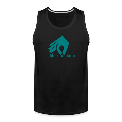 Miss Jane Seed - Teal - Men's Premium Tank