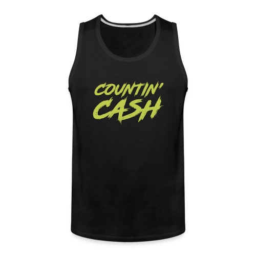 COUNTIN CASH T SHIRT FRONT - Men's Premium Tank