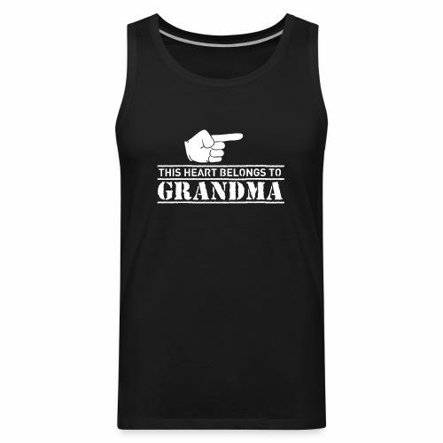 This Heart belongs to Grandma - Men's Premium Tank