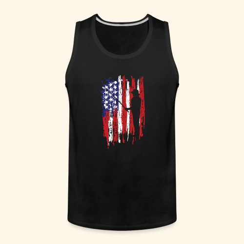 Fisherman US Flag - Men's Premium Tank