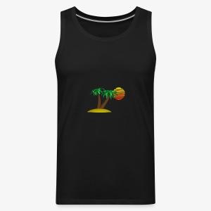 Palm Trees and Sun - Men's Premium Tank
