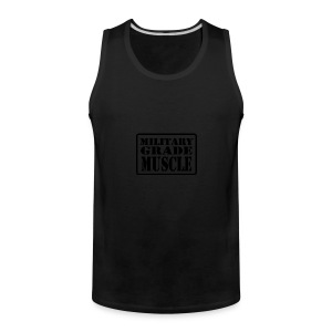 Military Grade Muscle Black - Men's Premium Tank