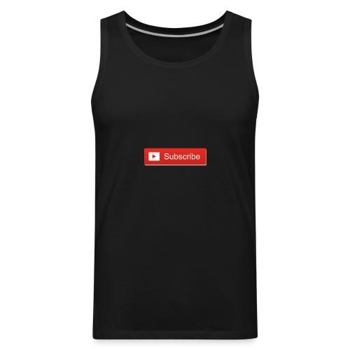 youtube_subscribe_button - Men's Premium Tank