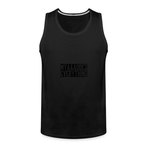 MyaaaDoesEverything (Black) - Men's Premium Tank