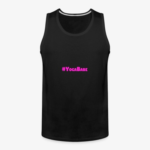 # Yoga Babe Logo translucent background - Men's Premium Tank