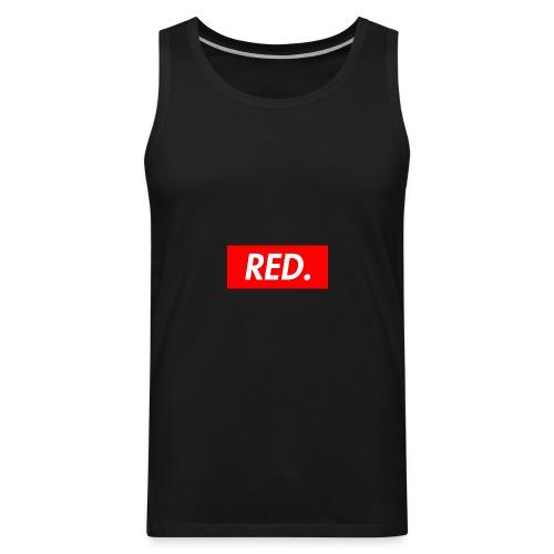 Red. - Men's Premium Tank