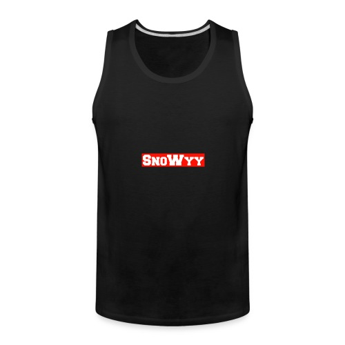 Red/White SnoWyy - Supreme Like Style - Men's Premium Tank