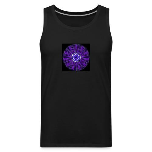 Feathery purple mandala - Men's Premium Tank