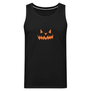 Jack o Lantern Halloween Pumkin face scary Costume - Men's Premium Tank