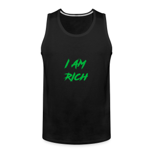 I AM RICH (WASTE YOUR MONEY) - Men's Premium Tank