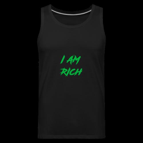 I AM RICH (WASTE YOUR MONEY) - Men's Premium Tank