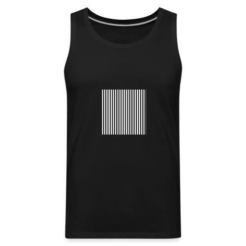 Black & White Stripes - Men's Premium Tank