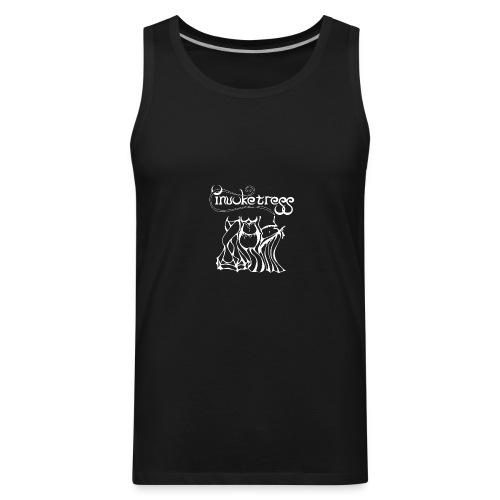 Invoketress Bellies Logo in White - Men's Premium Tank