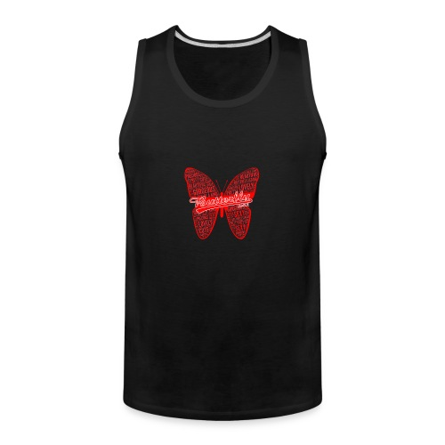 BUTTERFLY WORD RED - Men's Premium Tank