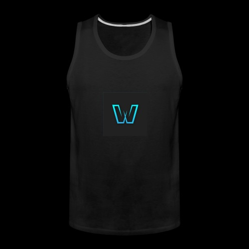 DoubleU Black Non-Transparent - Men's Premium Tank