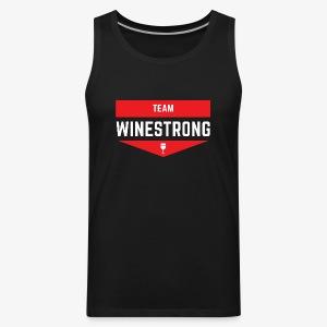 WineStrong Logo - Men's Premium Tank