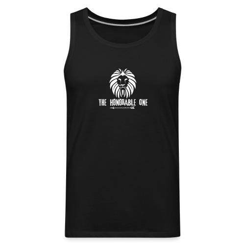 Lion: The Honorable One (White) - Men's Premium Tank