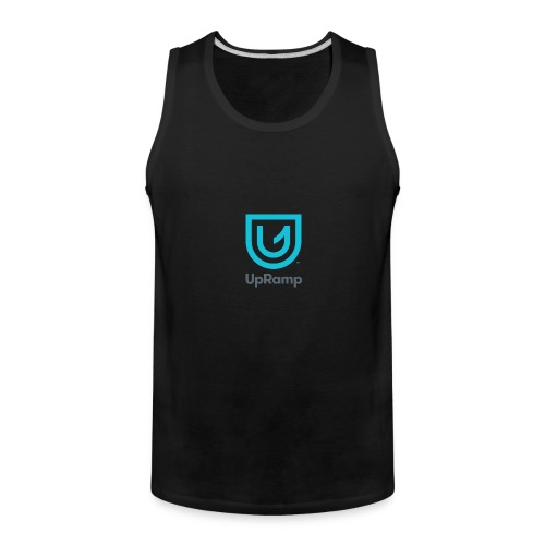 UpRamp Logo Blue Stacked ColorWhite - Men's Premium Tank