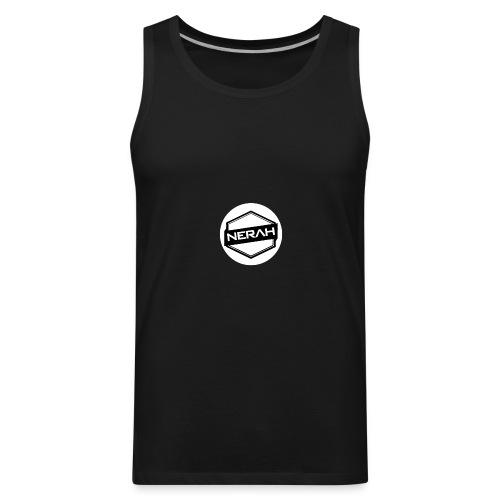 White Nerah Logo - Men's Premium Tank