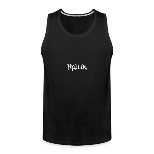 Frillin text transparent - Men's Premium Tank