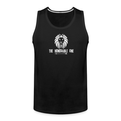 Lion: The Honorable One (White) - Men's Premium Tank