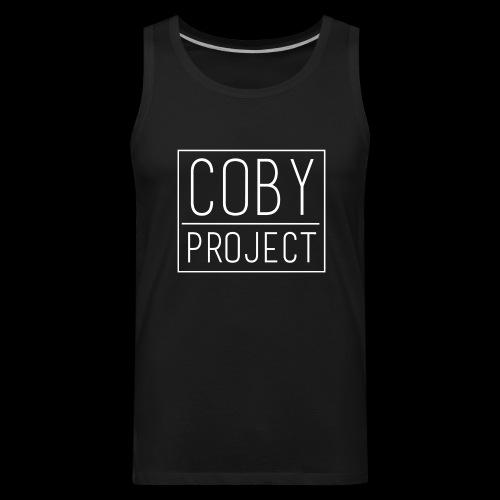 coby logo white - Men's Premium Tank