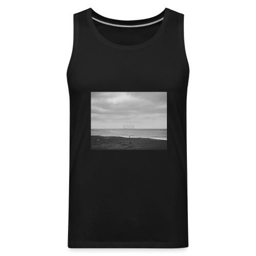 Black and White Beach Photo by Trevor J. Brown - Men's Premium Tank