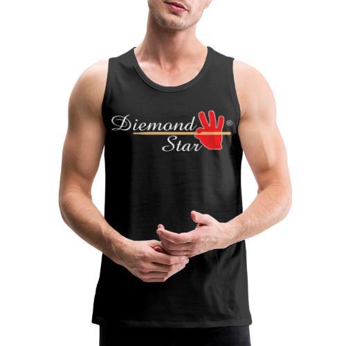 Diemond Star Logo White Font - Men's Premium Tank