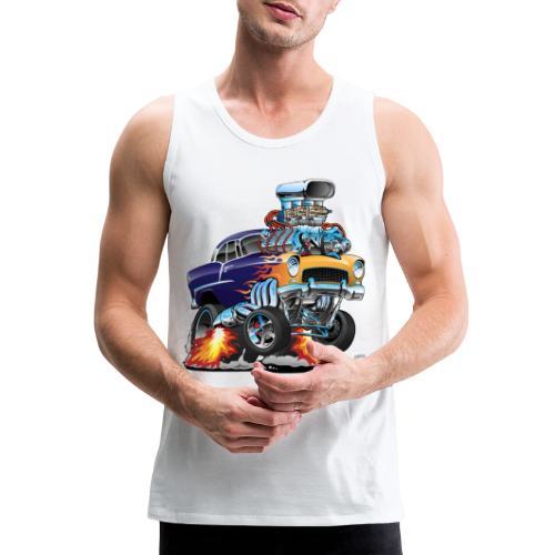 Classic Fifties Hot Rod Muscle Car Cartoon - Men's Premium Tank