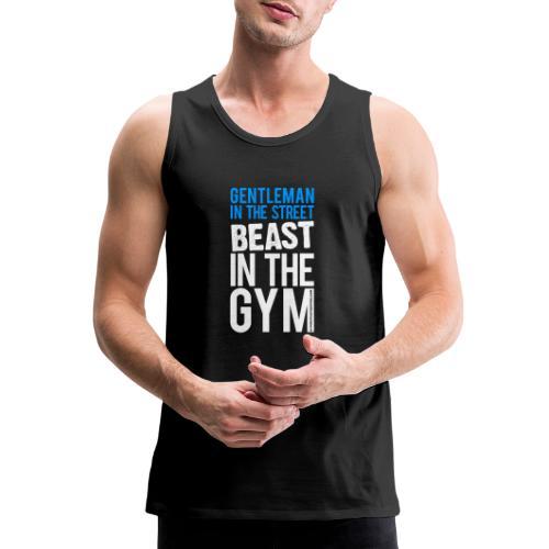 Beast in the Gym - Gym Motivation - Men's Premium Tank