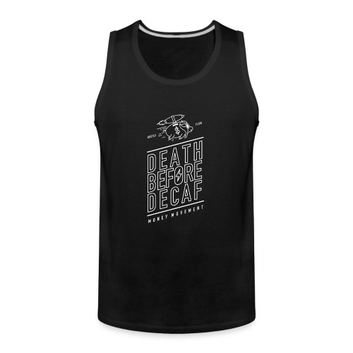 coffee cup white - Men's Premium Tank