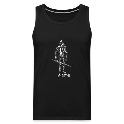 Gothic Knight Men's Standard Black T-shirt - Men's Premium Tank