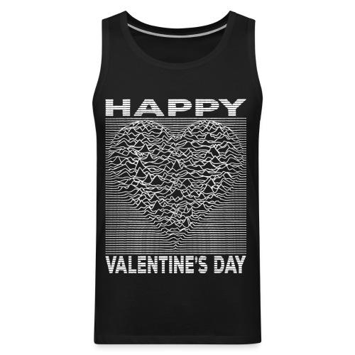 Love Lines Happy Valentines Day Heart - Men's Premium Tank