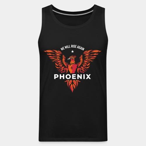 phoenix bird born reborn - Men's Premium Tank