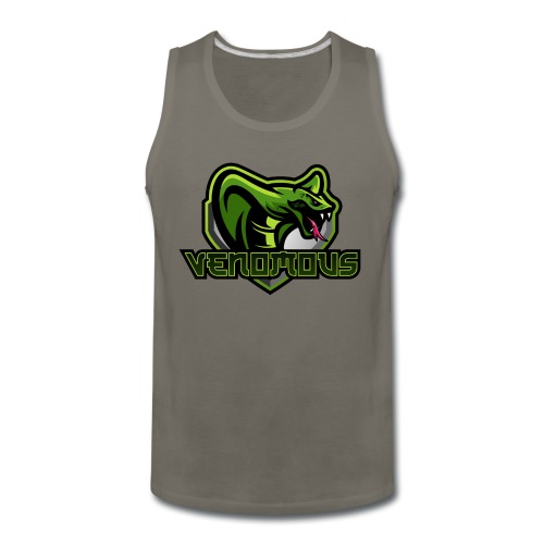 Venomous Text Logo - Men's Premium Tank