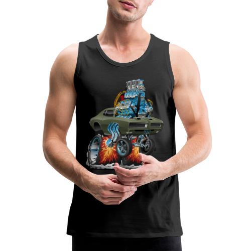 Classic American Muscle Car Hot Rod Cartoon - Men's Premium Tank