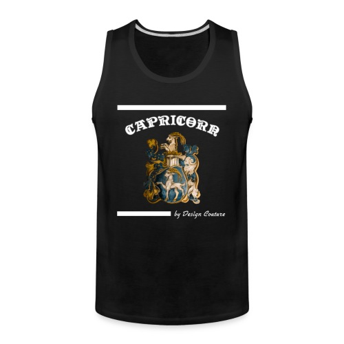 CAPRICORN WHITE - Men's Premium Tank
