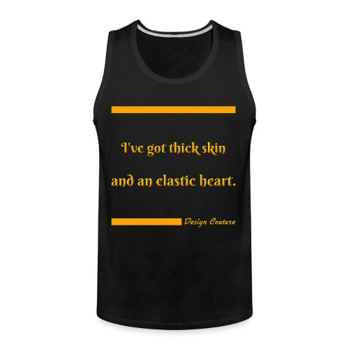 I VE GOT THICK SKIN ORANGE - Men's Premium Tank