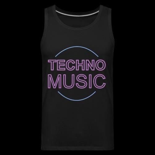 Techno Music - Men's Premium Tank