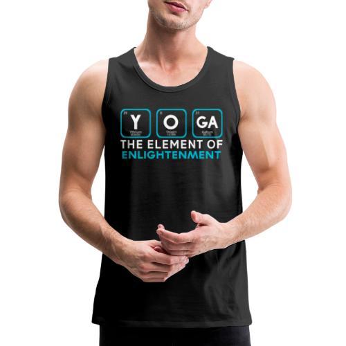 Yoga the Element of Enlightenment - Men's Premium Tank