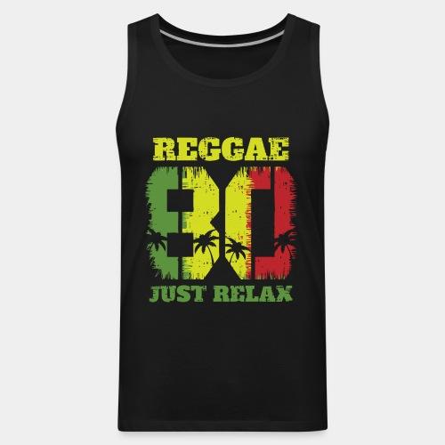 reggae music relax - Men's Premium Tank