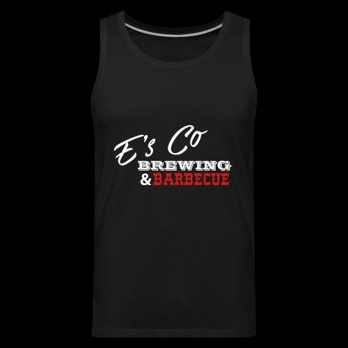 Es Co Brewing BBQ White - Men's Premium Tank