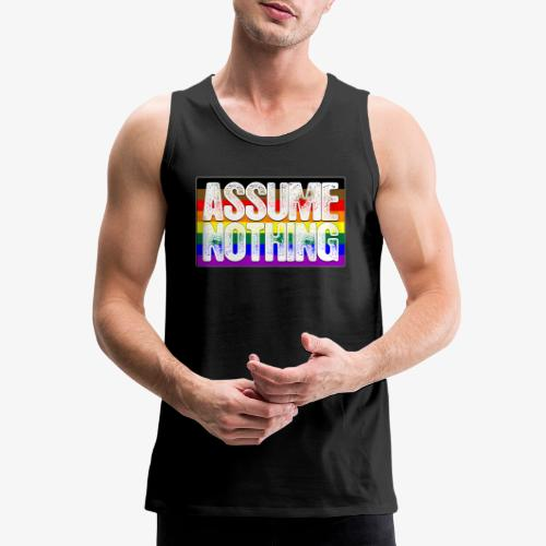 Assume Nothing Philly LGBTQ Gay Pride Flag - Men's Premium Tank