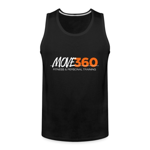 Move360 Logo LightGrey - Men's Premium Tank