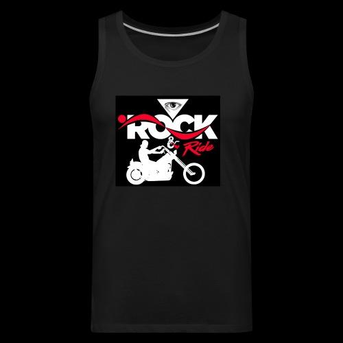 Eye Rock and Ride design black & Red - Men's Premium Tank