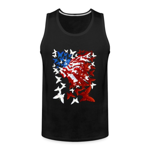 The Butterfly Flag - Men's Premium Tank