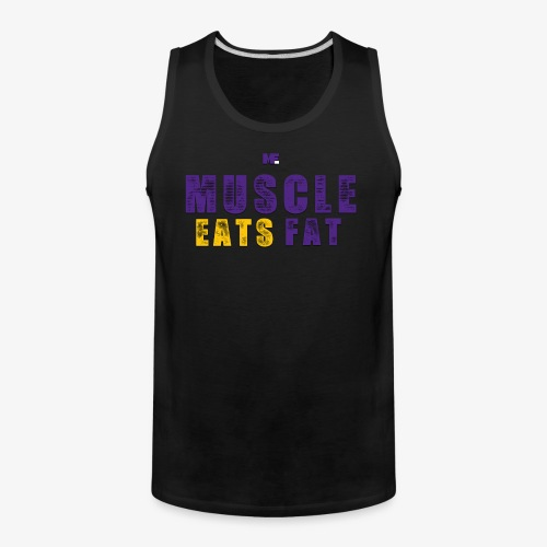 Muscle Eats Fat (Vikings Edition) - Men's Premium Tank