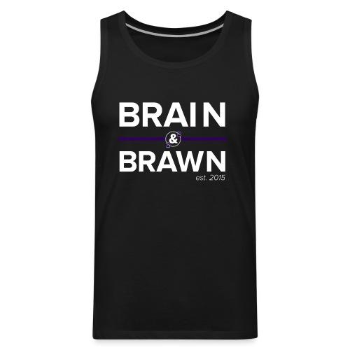 t shirt print dark png - Men's Premium Tank