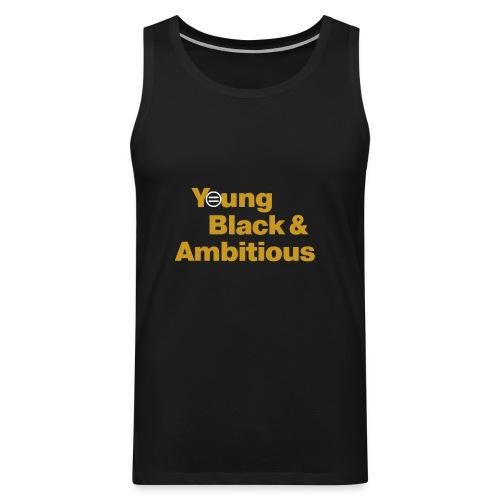 YBA Black and Gold Shirt2 - Men's Premium Tank